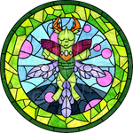 King Thorax Stained Glass by H-StallionWolf