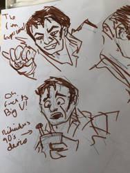 Finn sketches by mewsteiin