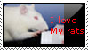 I Love My Rats Stamp by KlomZy
