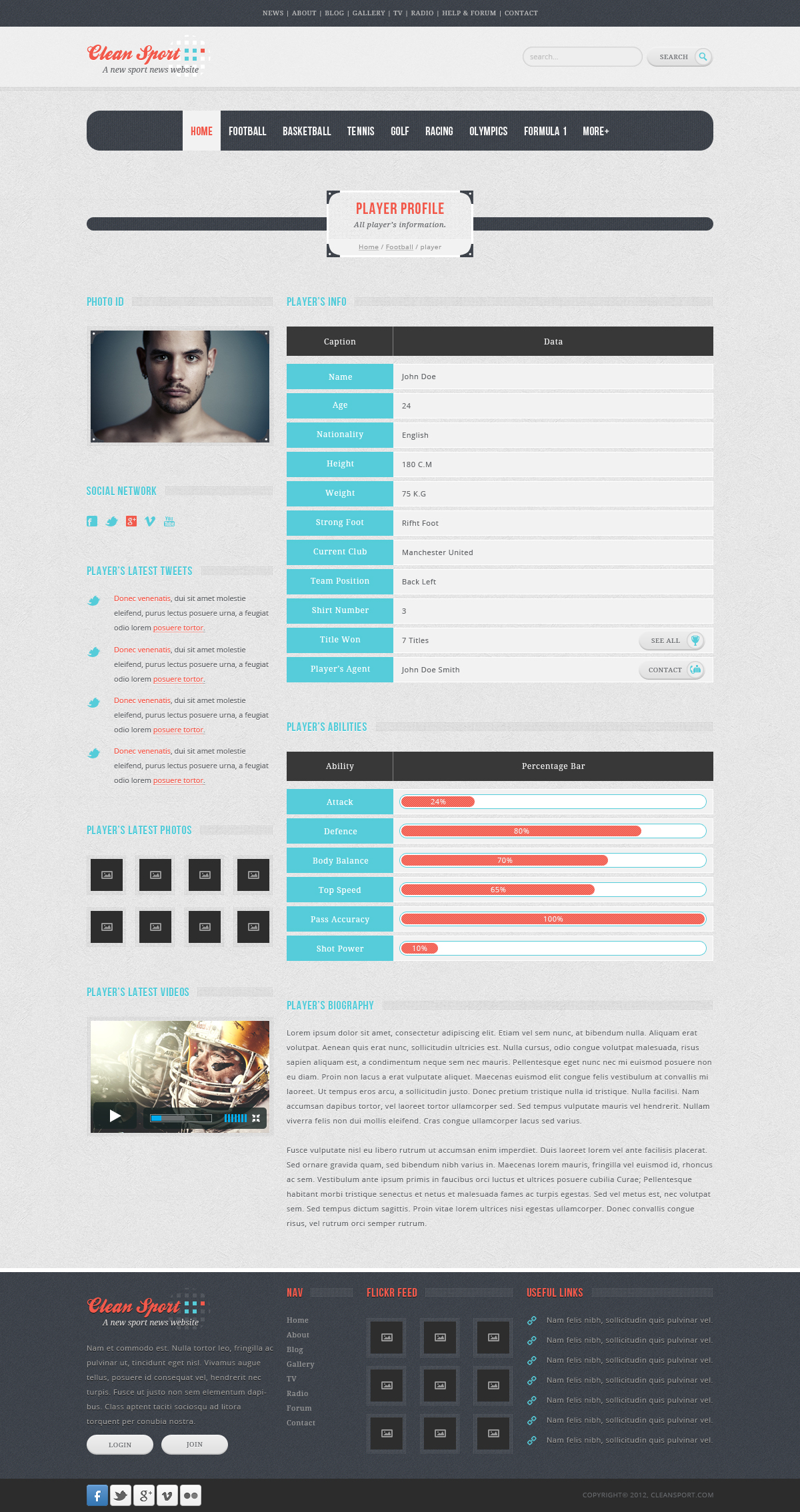 Clean Sport - HTML Template by sheko-elanteko