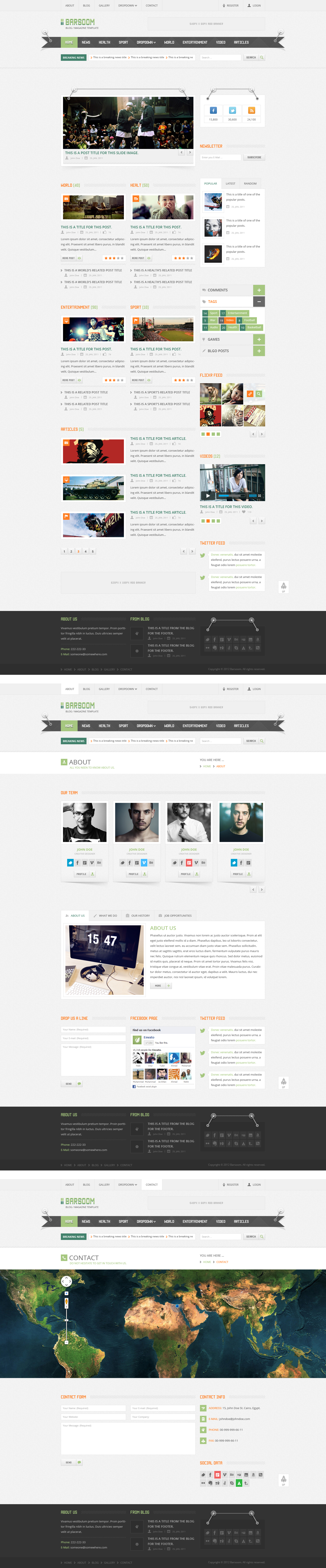 Barsoom - PSD Template by sheko-elanteko