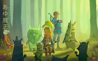 Breath of the wild 2 fanart Link and Zelda