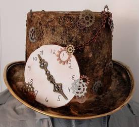 Steampunk ooak top hat by Greenhorngal