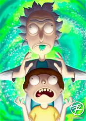 Rick and Morty Fan Art by juandatruji
