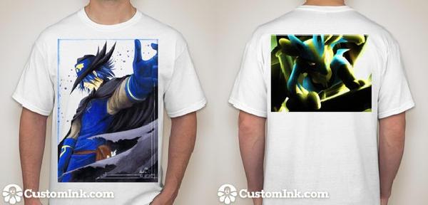 Custom Lucario movie promo shirt by Wiivolution2