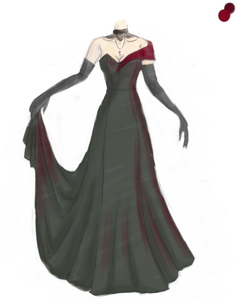 Masquerade dress by AerithReborn