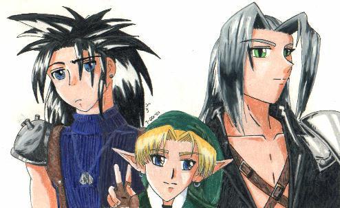 Zack, Link, Seph - OtDE by AerithReborn