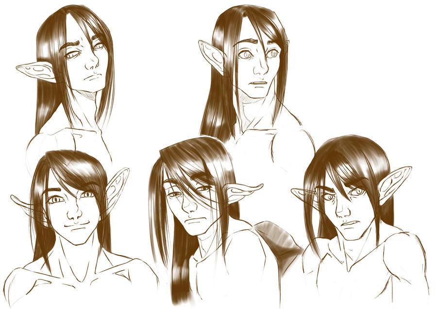 Art Dump: Jett's face by AerithReborn