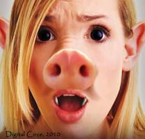 Startled Piggy by digitalcirce