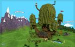 Adventure Time - Treefort in Minecraft