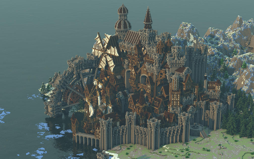 Conderial A Steampunk Medieval City By Notux On Deviantart