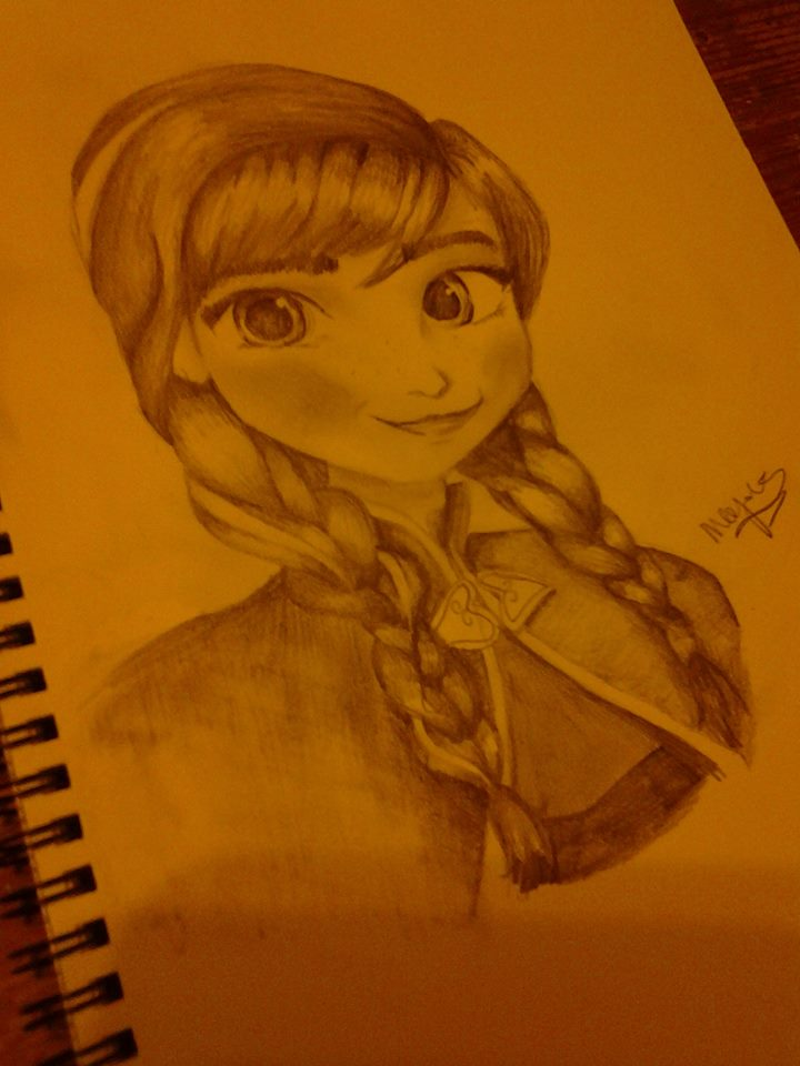 Anna drawing by IndigoSparkles