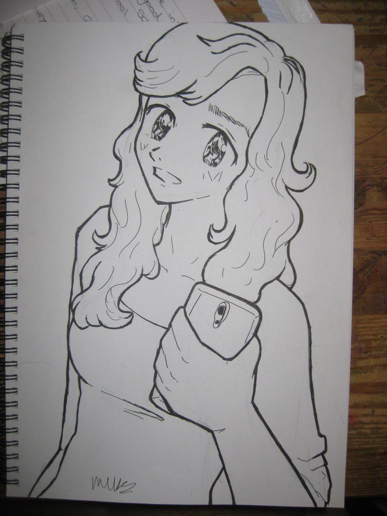 selfie doodle by IndigoSparkles