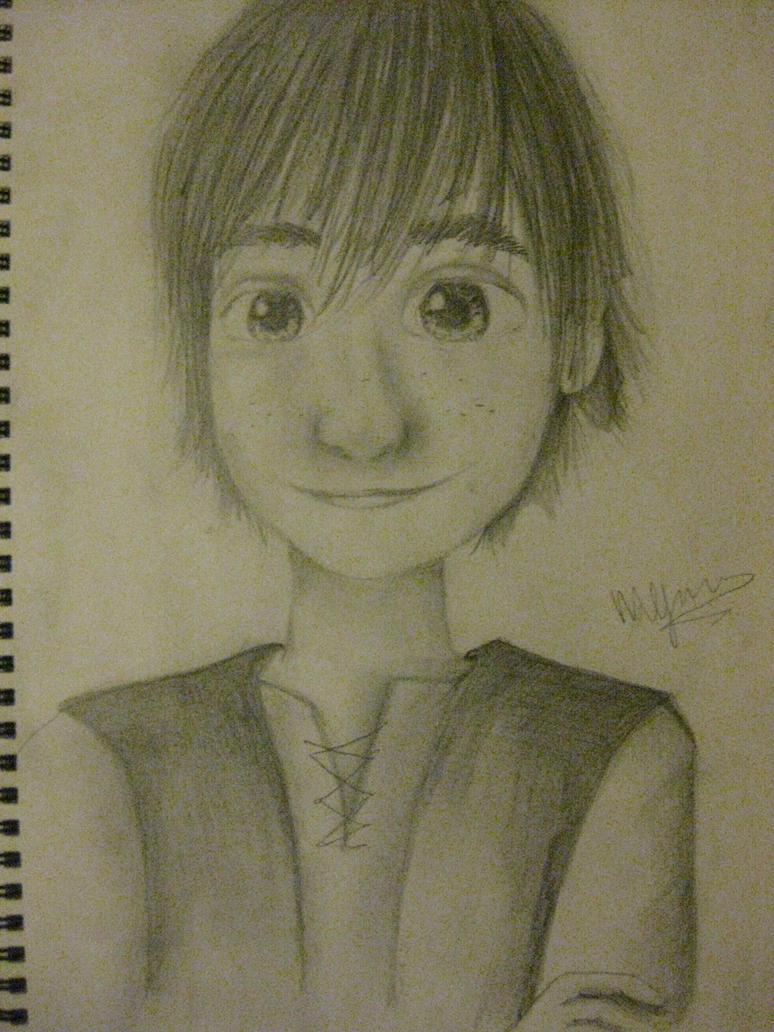 Hiccup Horrendous Haddock III sketch by IndigoSparkles