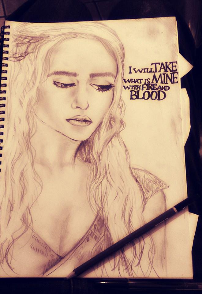 Khaleesi sketch by IndigoSparkles