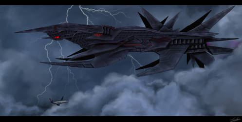 Turbulence in clouds.TFP by Azulg