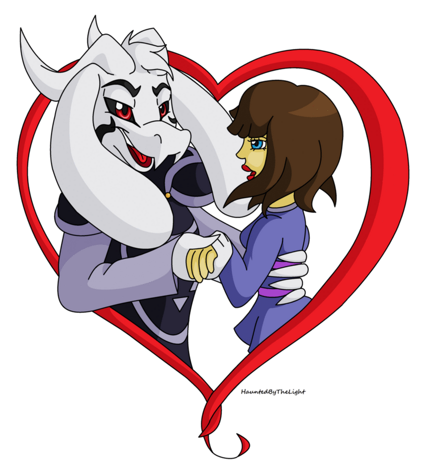 Asriel x frisk undertale by hauntedbythelight on deviantart