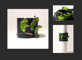 Ginkgo leafs leather bracelet by julishland