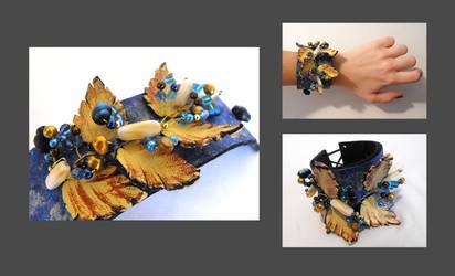 Leather branch bracelet. by julishland