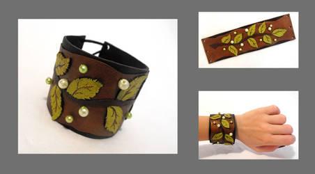 Leather branch bracelet-2 by julishland
