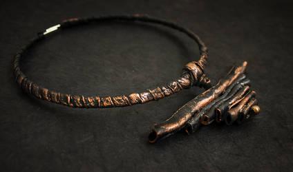 Tribal style leather necklace by julishland