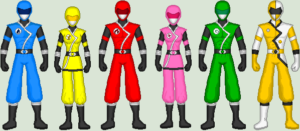 Arashi Sentai Shinoger Full Team by CrBotBox