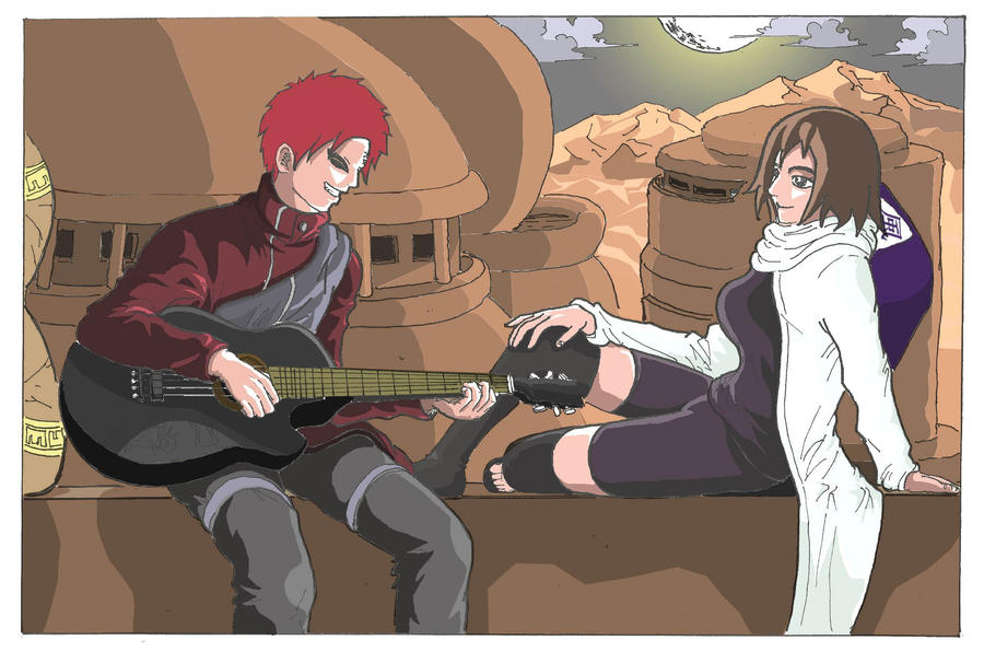 Gaara feat Matsuri for contest by syujin31 on DeviantArt