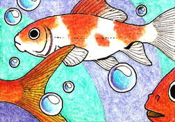 ACEO 1 - Goldfish by LuthienNightwolf