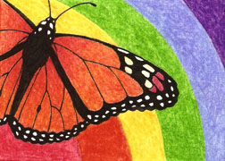 ACEO 2 - Monarch Butterfly by LuthienNightwolf