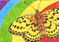 ACEO 5 - Marbled Fritillary by LuthienNightwolf