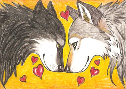 ACEO for my fiancee' by LuthienNightwolf