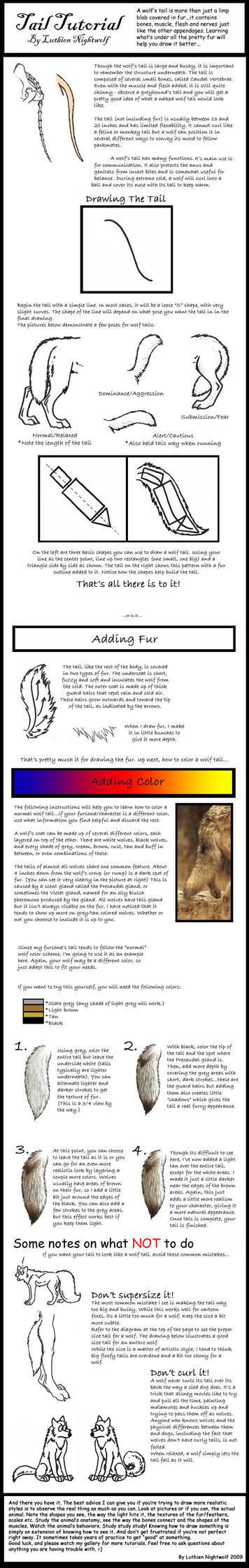 Wolf Tail Tutorial by LuthienNightwolf
