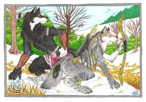 Winter Hunt by LuthienNightwolf