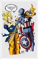 Goku Vs Captain America by huguiringo
