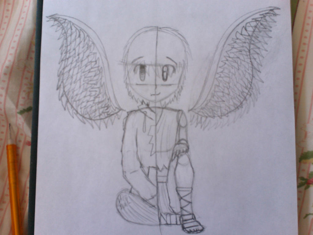Nameless Angel [Cover 1st Draft WIP] by Lombaxpuppy