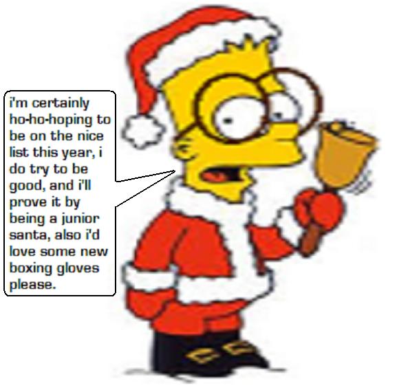Bart Christmas Is A Junior Santa by boxingglovehands on DeviantArt