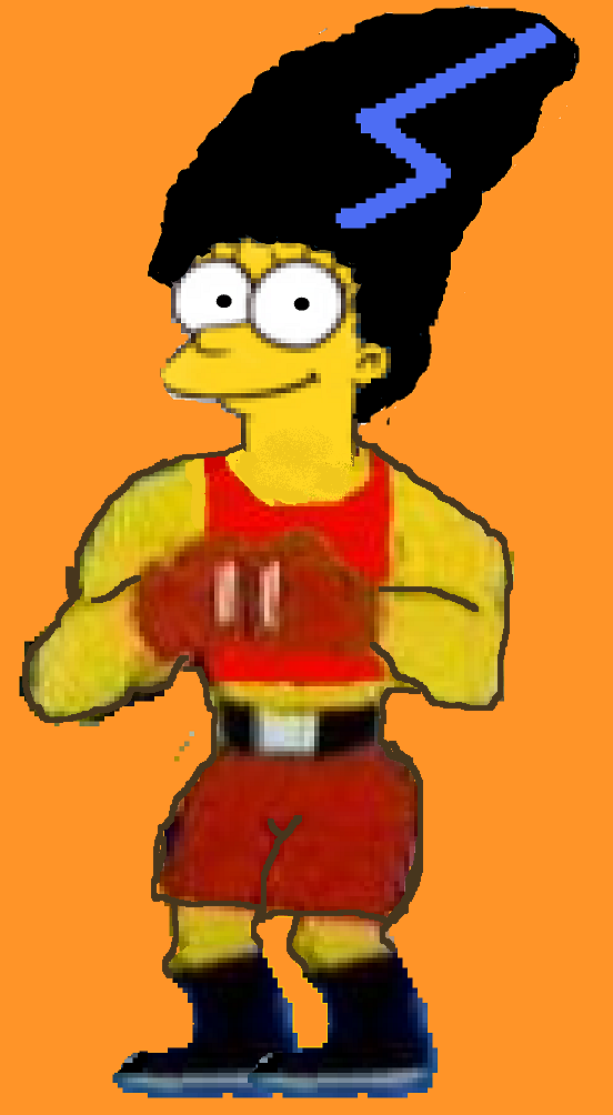 Boxing Sara Reed Simpsonised fighter. by boxingglovehands