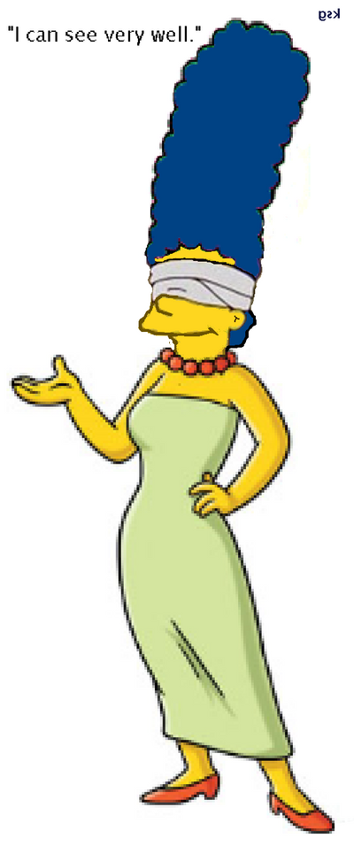Blind Marge by boxingglovehands