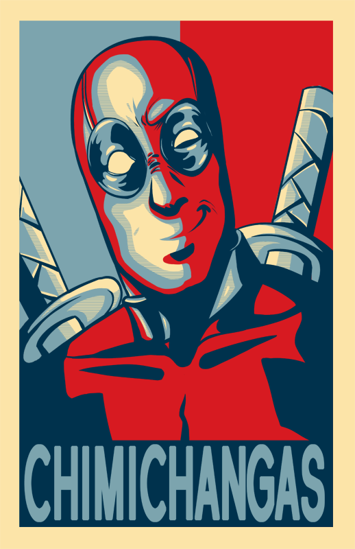 Deadpool Chimichanga Poster by AerianR