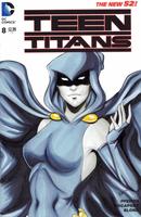 Teen Titans blank variant - Raven by AerianR