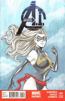 Ms. Marvel blank variant by AerianR