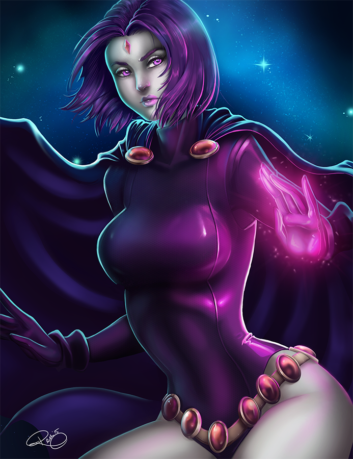 DC Fan Art: Teen Titans Raven - Comic