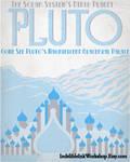 Retro Sci-fi Pluto Travel Poster