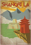 Retro Shangri La Travel Poster