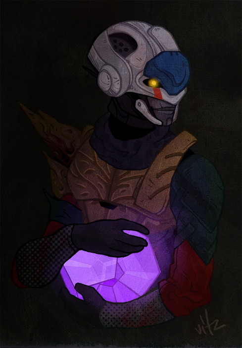 Lady with a legendary engram by vitzzz