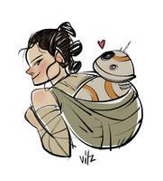 Rey BB-8 by vitzzz