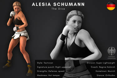 Fighter card: Alesia Schumann by alesiaboxing