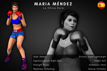 Fighter card: Maria Mendez by alesiaboxing
