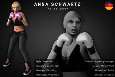 Fighter card: Anna Schwartz by alesiaboxing