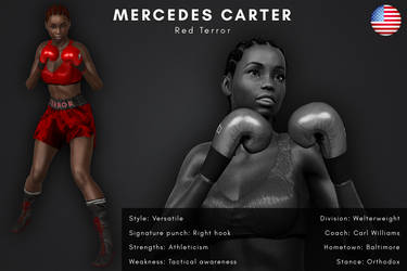 Fighter card: Mercedes Carter by alesiaboxing